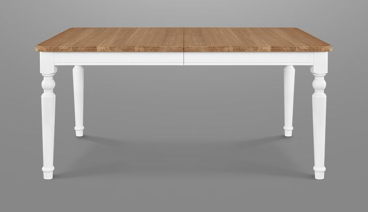 Clemence Richard Moreno Painted 135cm Extending Dining Table with Curved Legs