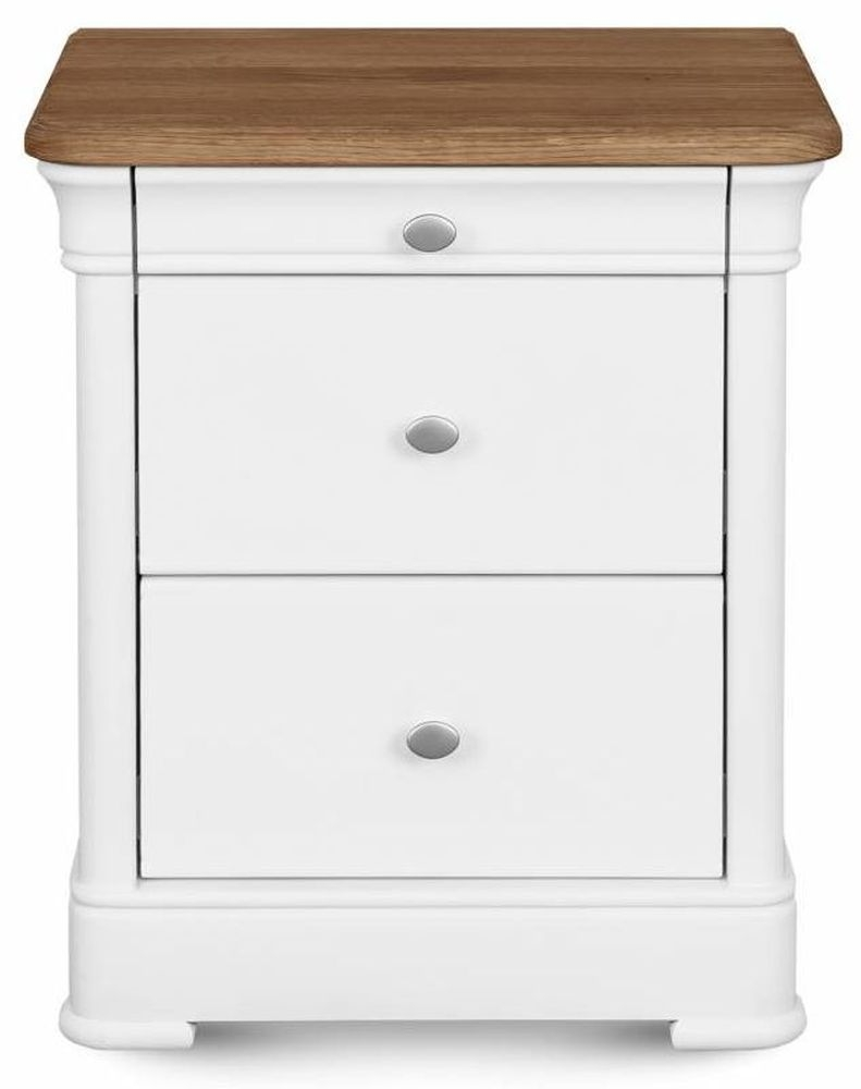 Clemence Richard Moreno Painted 3 Drawer Bedside Cabinet
