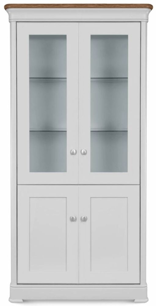 Clemence Richard Moreno Painted 2 Door Glazed Display Cabinet