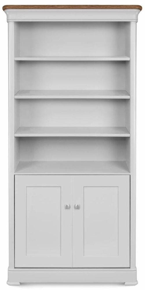 Clemence Richard Moreno Painted 2 Door Large Bookcase