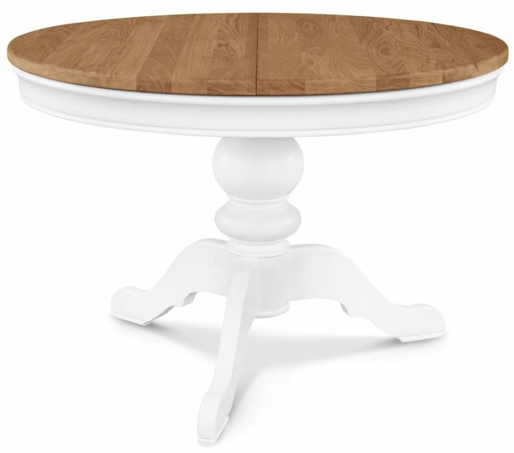Clemence Richard Moreno Painted Round Single Pedestal Dining Table - 110cm-150cm