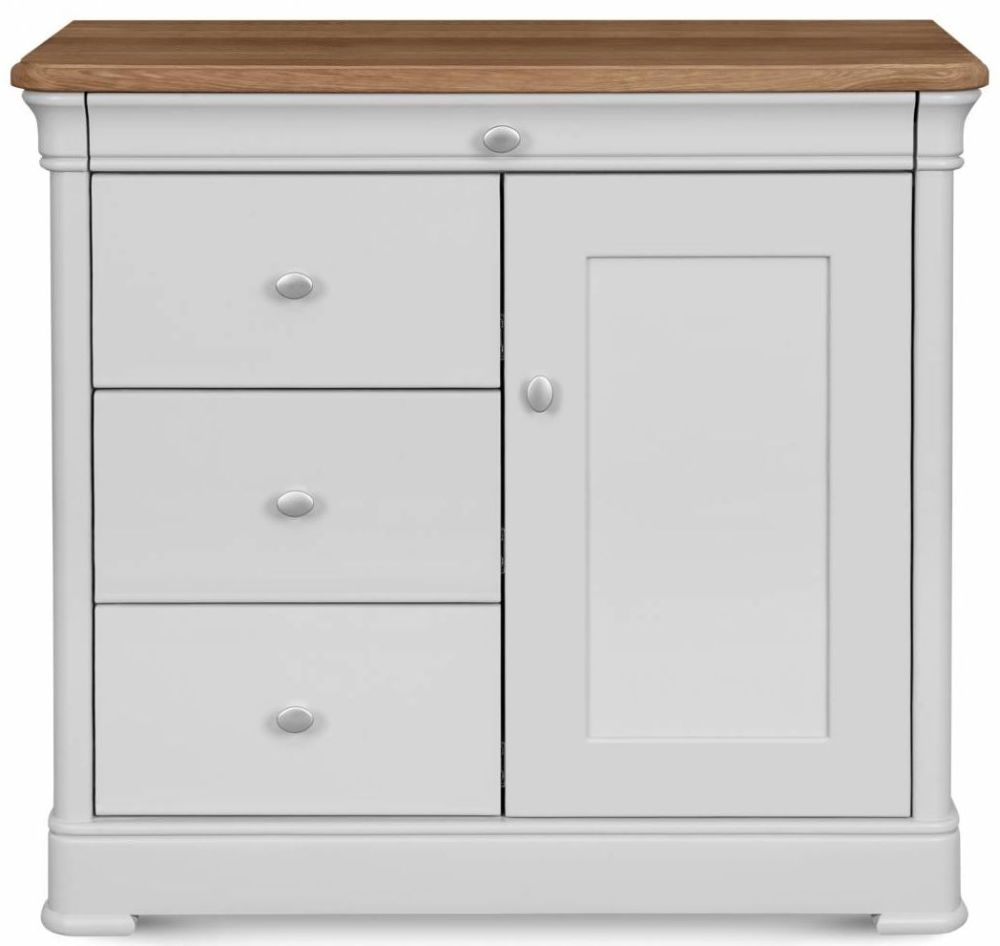 Clemence Richard Moreno Painted 1 Door 3 Drawer Narrow Sideboard
