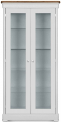 Clemence Richard Moreno Painted 2 Door Tall Wide Display Cabinet