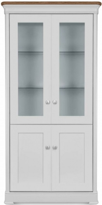 Clemence Richard Moreno Painted 4 Door Tall Wide Display Cabinet