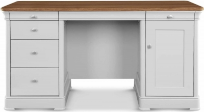 Clemence Richard Moreno Painted Double Pedestal Desk