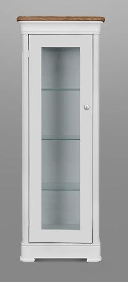 Clemence Richard Moreno Painted 1 Door Display Cabinet