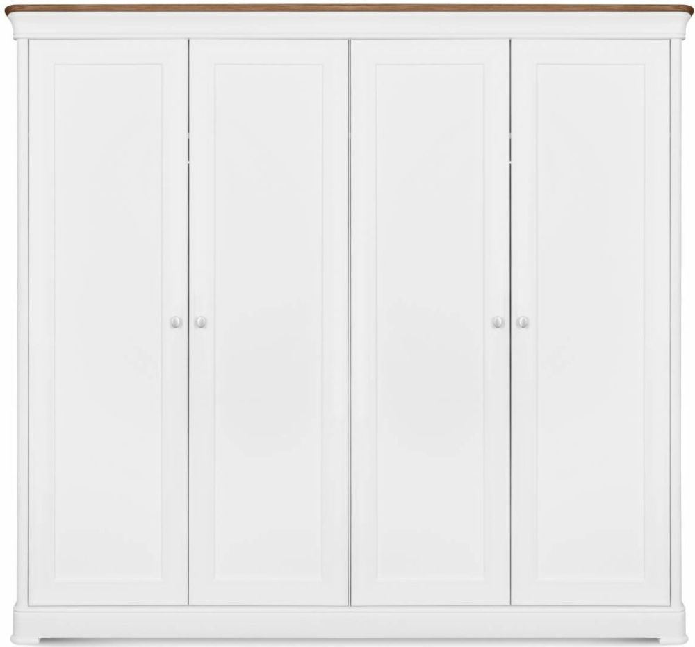Clemence Richard Moreno Painted 4 Door Wardrobe
