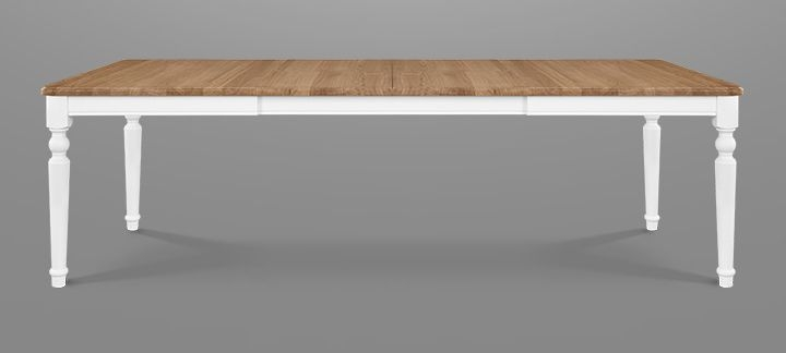 Clemence Richard Moreno Painted Extending Dining Table with Curved Legs