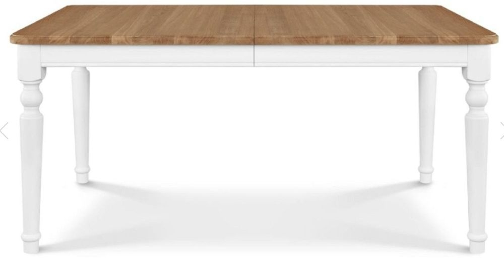 Clemence Richard Moreno Painted Large Extending Dining Table with Curved Legs Type