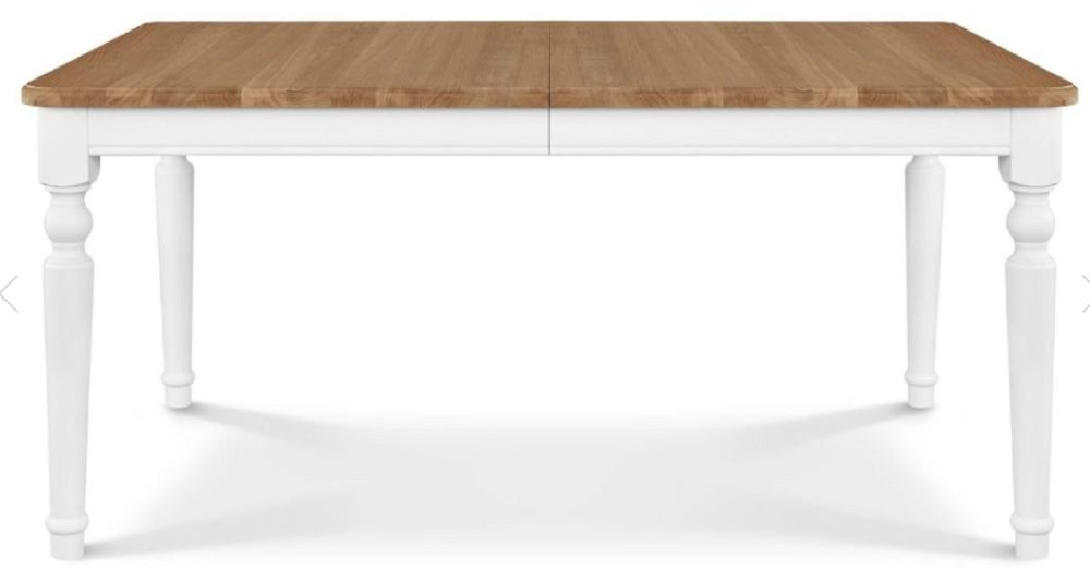 Clemence Richard Moreno Painted Medium Extending Dining Table with Curved Legs