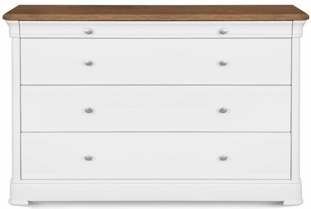 Clemence Richard Moreno Painted Wide 4 Chest of Drawer