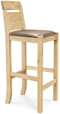 Clemence Richard Oak Bar Chair