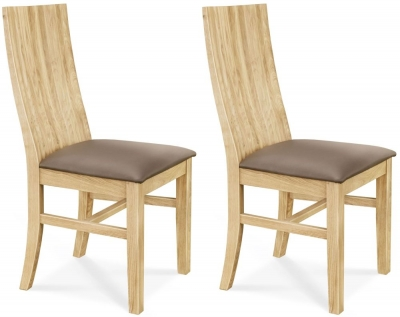 Clemence Richard Oak Dining Chair with Curved Back (Pair)