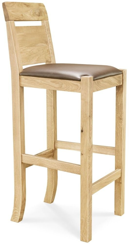 Clemence Richard Oak Bar Chair