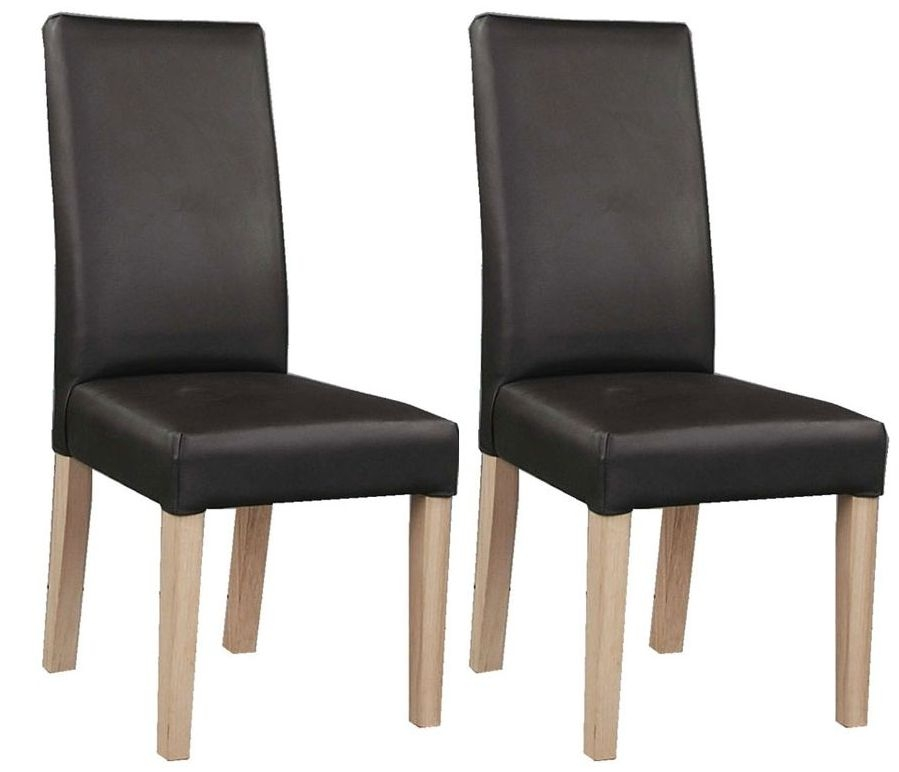 Clemence Richard Oak Chair with Upholstered Leather  (Pair)