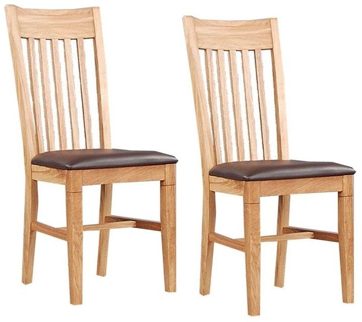 Clemence Richard Oak Dining Chair with Leather Seat (Pair) 016