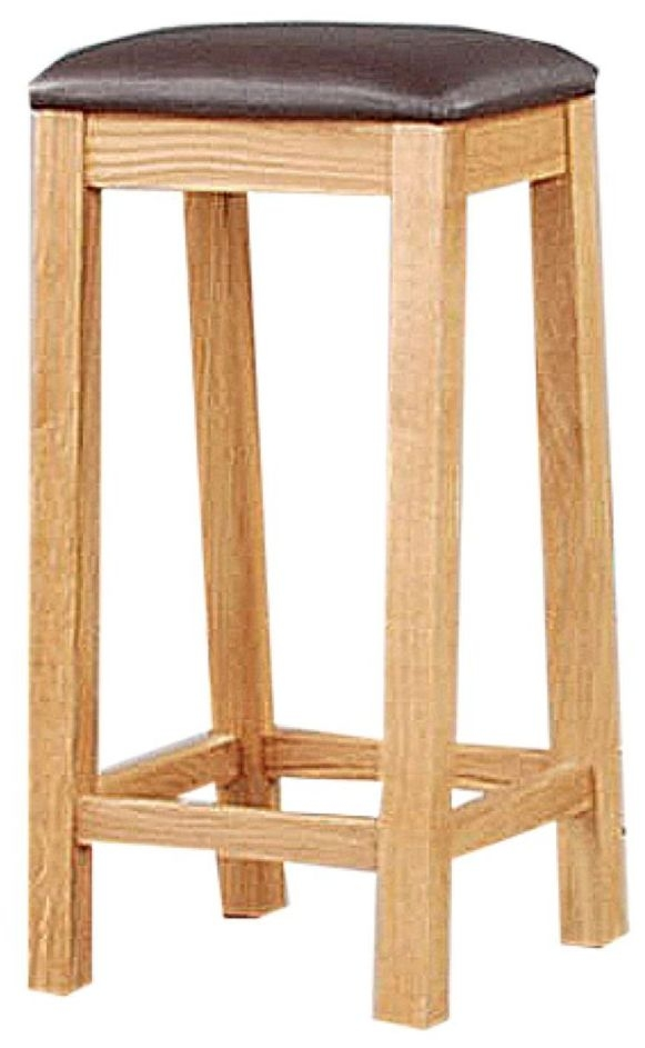 Clemence Richard Oak Stool with Wooden Seat