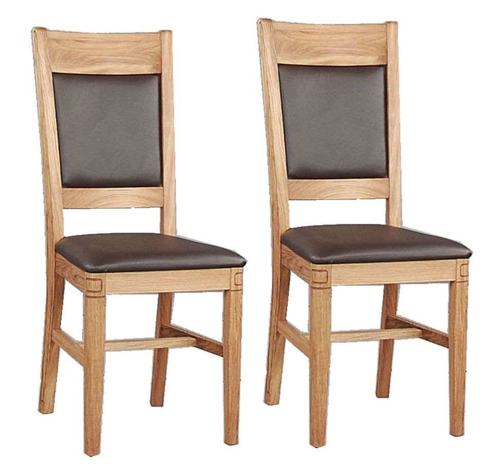 Clemence Richard Oak Straight Leg Dining Chair (Pair)