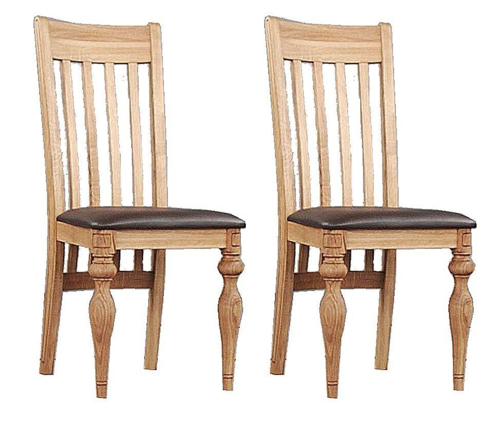 Clemence Richard Oak Turned Leg Dining Chair (Pair)