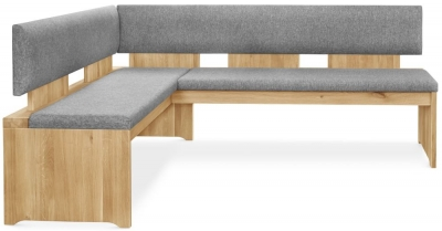 Clemence Richard Palermo Oak Corner Bench