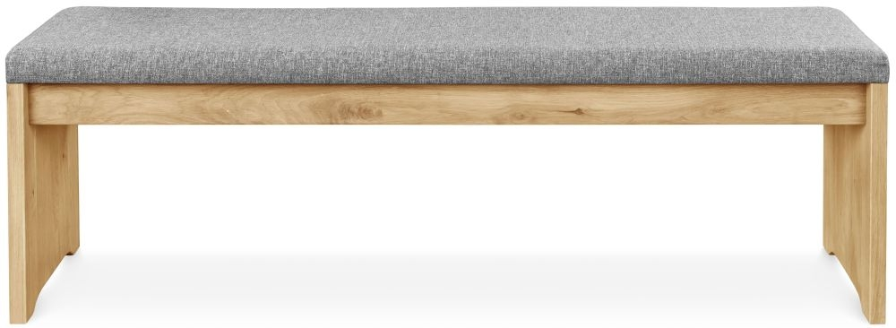 Clemence Richard Palermo Solid Oak Bench - 723 thumbnail