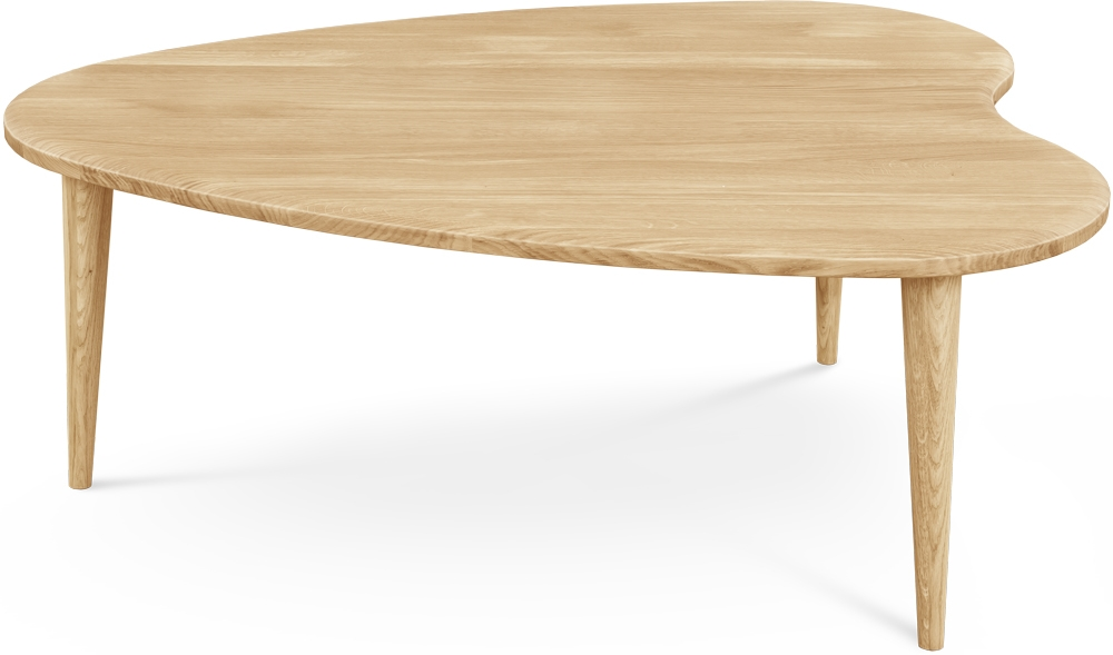 Clemence Richard Palermo Oak Coffee Table - Heart Shaped 714