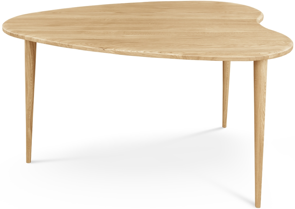 Clemence Richard Palermo Oak Heart Shaped Dining Table - 150cm