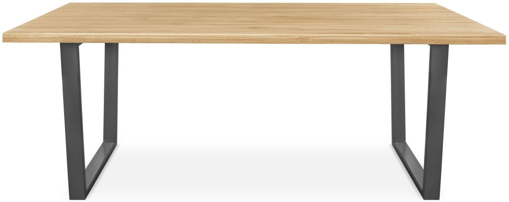 Clemence Richard Palermo Oak Dining Table with Metal legs