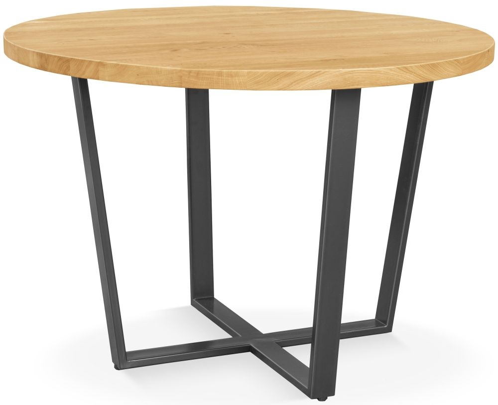 Clemence Richard Palermo Rustic Oak Round Dining Table - 110cm 740