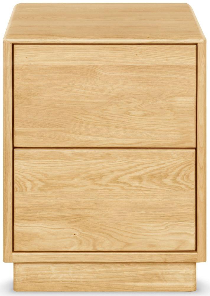 Clemence Richard Portofino Oak Bedside Cabinet