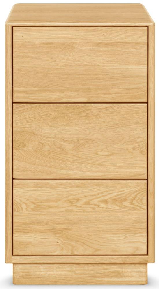 Clemence Richard Portofino Oak Tall Bedside Cabinet