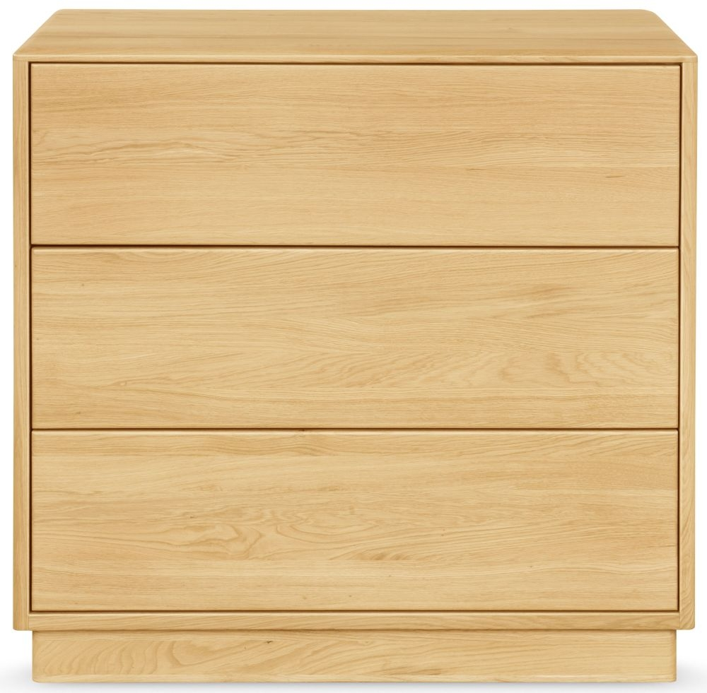 Clemence Richard Portofino Brushed Oak 3 Drawer Chest