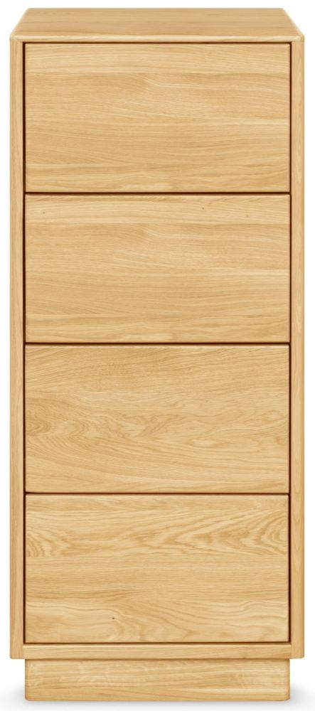 Clemence Richard Portofino Oak 4 Drawer Narrow Chest
