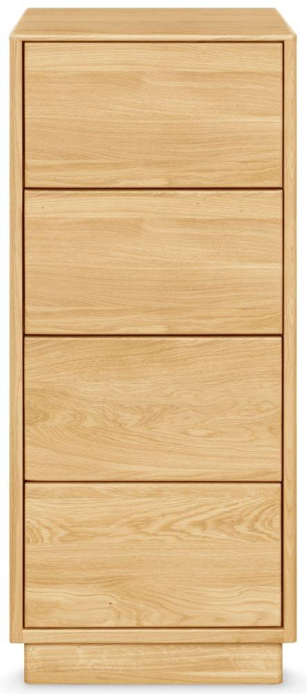 Clemence Richard Portofino Brushed Oak 4 Drawer Narrow Chest
