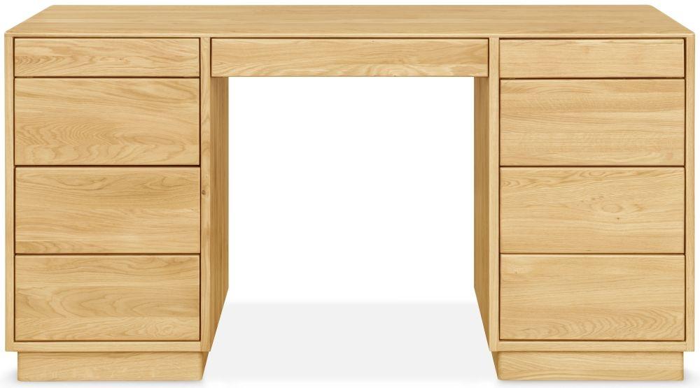 Clemence Richard Portofino Oak Double Pedestal Dressing Table