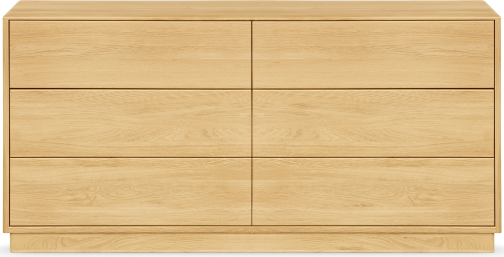Clemence Richard Portofino Brushed Oak Chest of Drawers - 6 Drawers