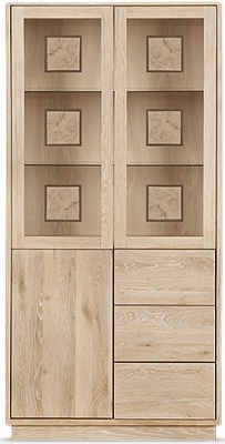 Clemence Richard Portofino Oak 3 Door Combi High Display Cabinet - 910A