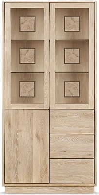 Clemence Richard Portofino Oak 3 Door Combi High Display Cabinet - 910C