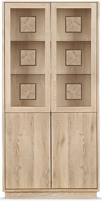 Clemence Richard Portofino Oak 4 Door High Display Cabinet - 910D
