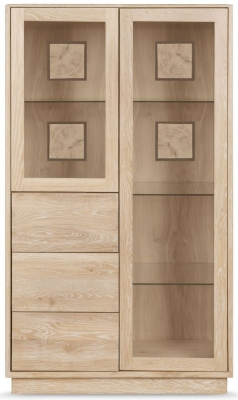 Clemence Richard Portofino Oak 2 Door Combi Display Cabinet - 900A