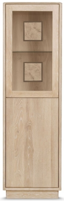 Clemence Richard Portofino Oak 2 Door Display Cabinet - 920B