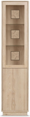 Clemence Richard Portofino Oak 2 Door Door Display Cabinet - 905B