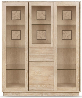 Clemence Richard Portofino Oak 3 Door Combi Large Highboard