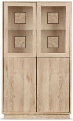 Clemence Richard Portofino Oak 4 Door Small Highboard