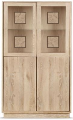 Clemence Richard Portofino Oak 4 Door Medium Highboard