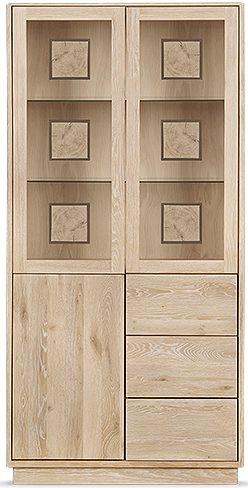 Clemence Richard Portofino Oak 3 Door Combi High Display Cabinet - 910A