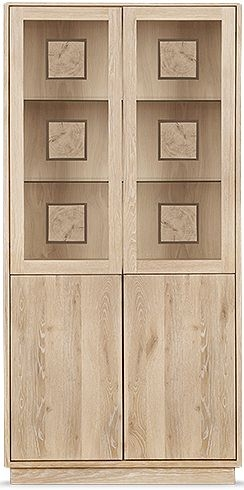Clemence Richard Portofino Oak 4 Door High Display Cabinet - 910B
