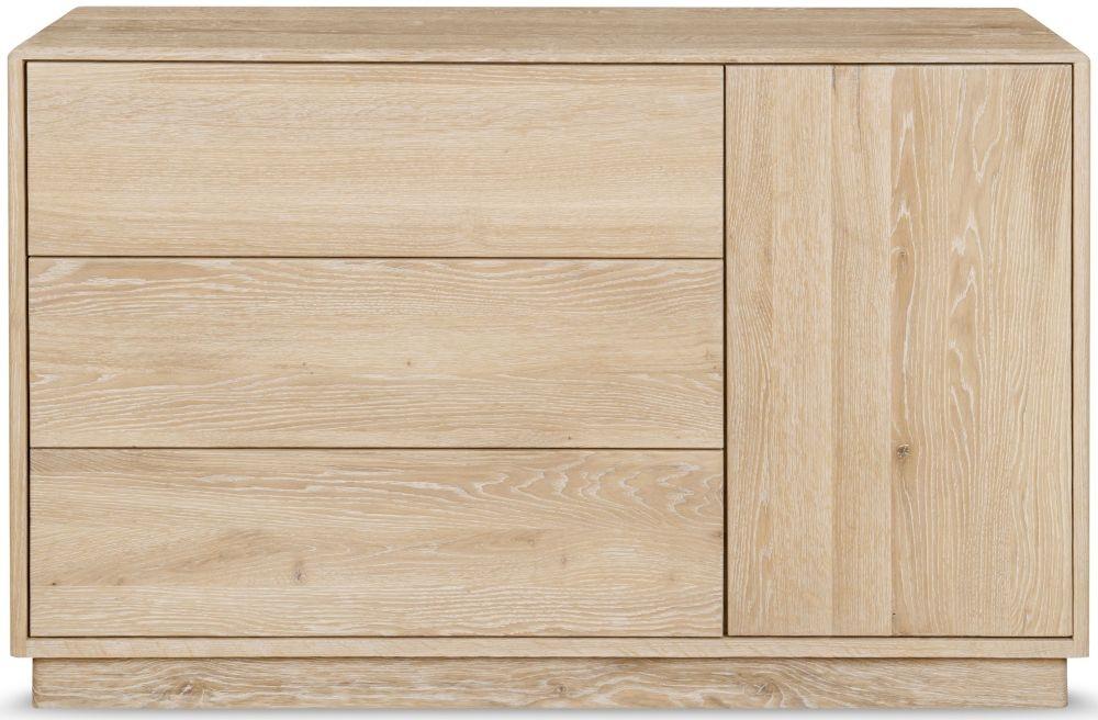Clemence Richard Portofino Oak 1 Door Combi Sideboard