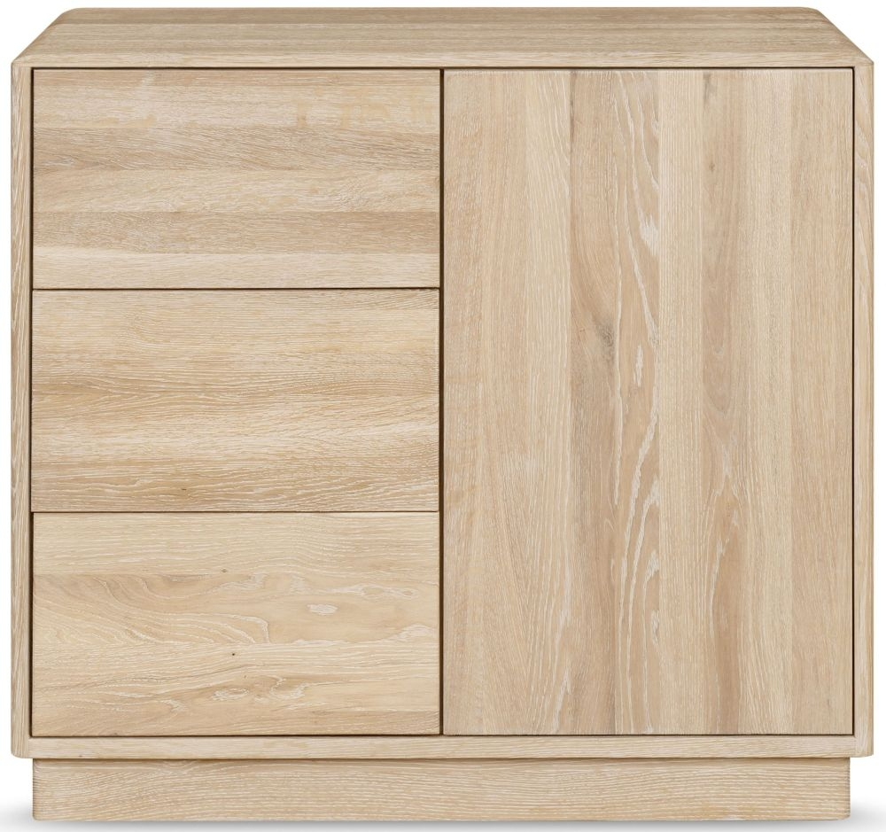 Clemence Richard Portofino Oak 1 Door Combi Narrow Sideboard