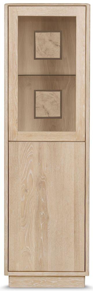 Clemence Richard Portofino Oak 2 Door Display Cabinet - 920A